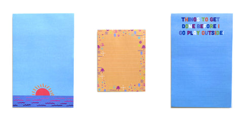Colorful notepads from Compass Paper Co