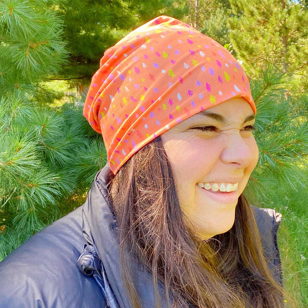 Happy Lil Trees Shoulder Season Beanie