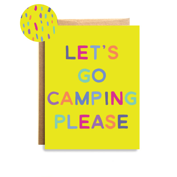 Camping Please Card