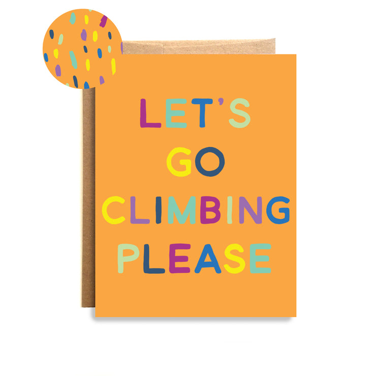 Climbing Please Card