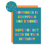 Happiness and S'mores Card