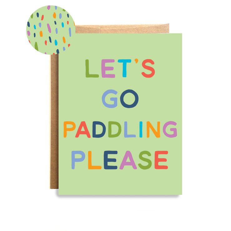 Paddling Please Card