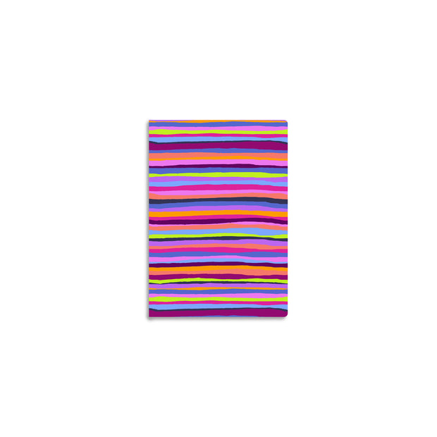 Summer Stripes Mini Notebook