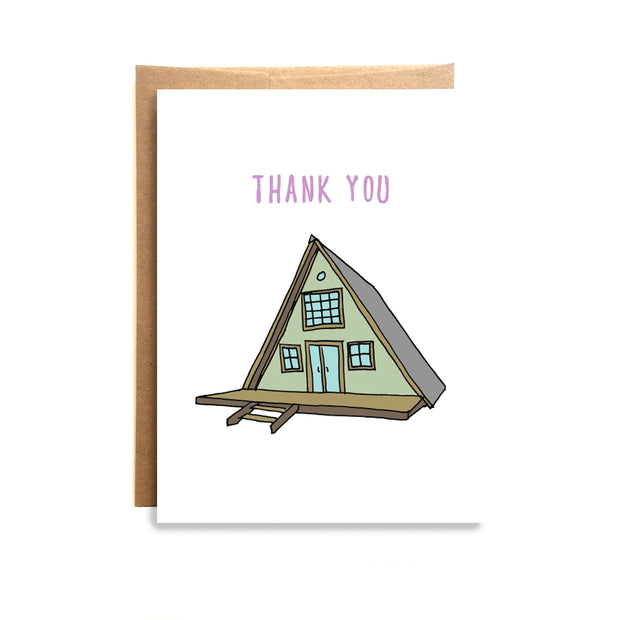 Cabin Thank You Card