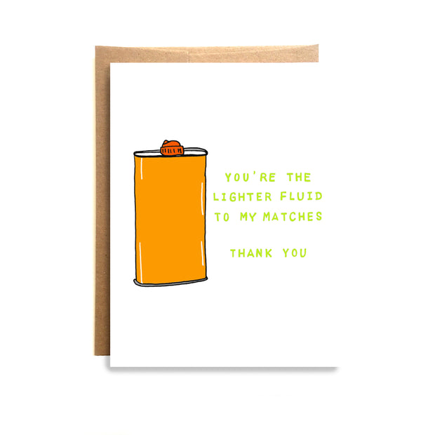 Lighter Fluid Card