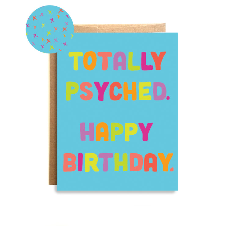 Psyched Card