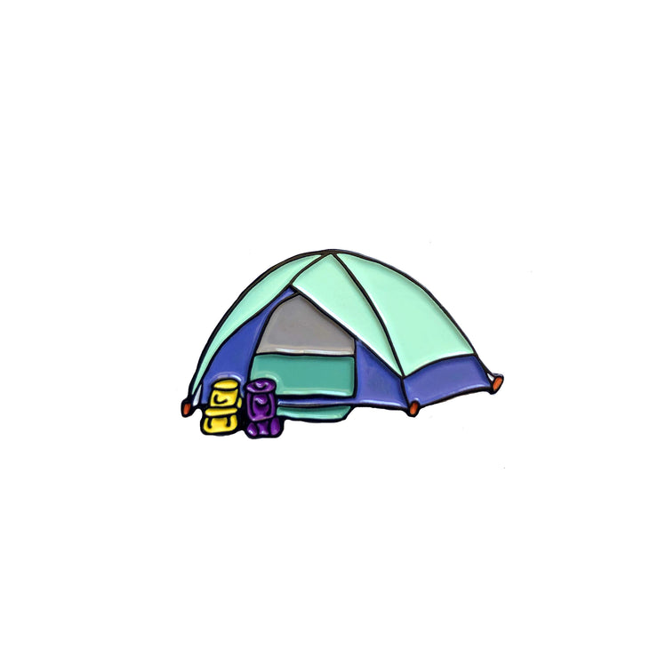 Camping pin in the shape of a cute tent