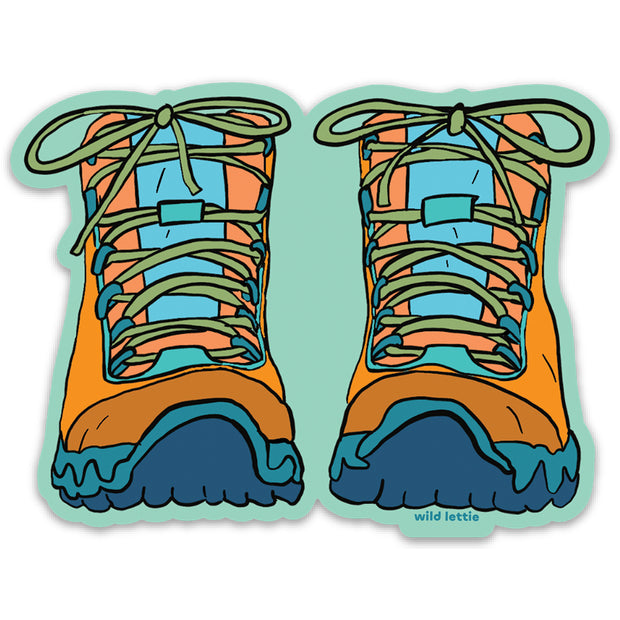 Hiking Boots Sticker