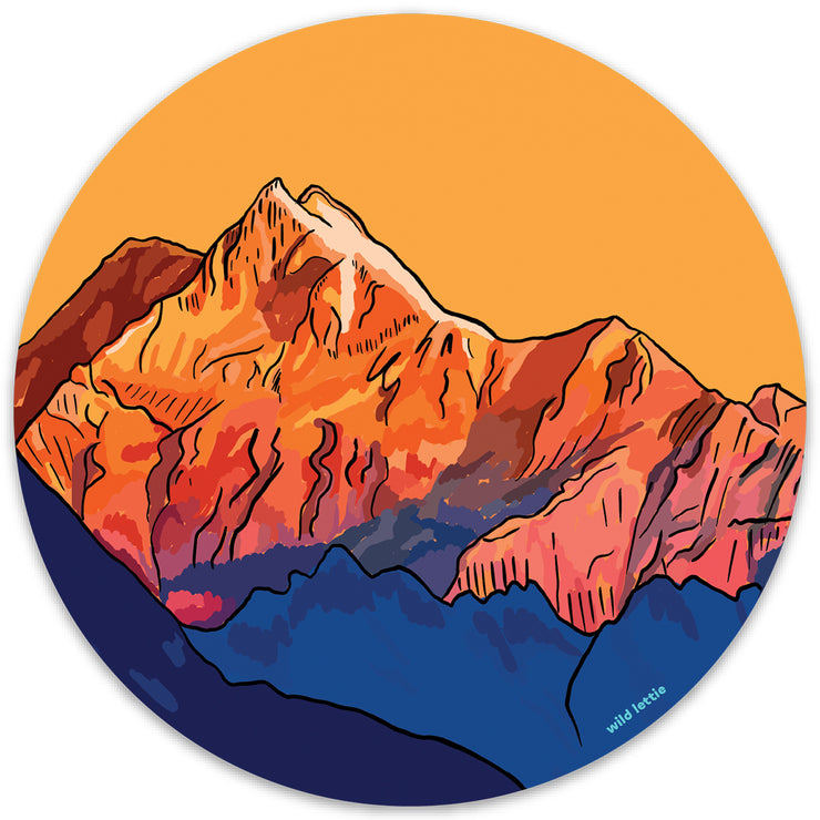 Mountain Circle Sticker