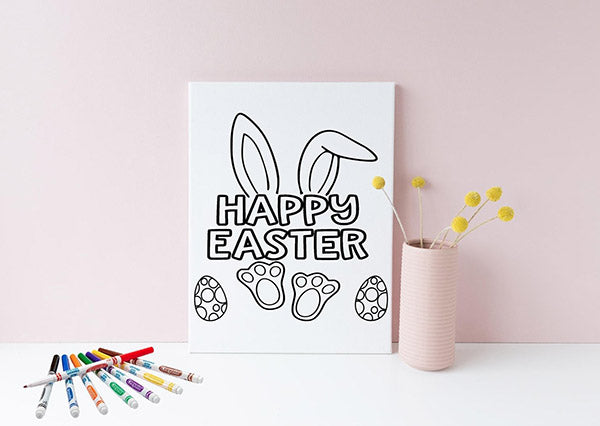 Easter Coloring Canvas