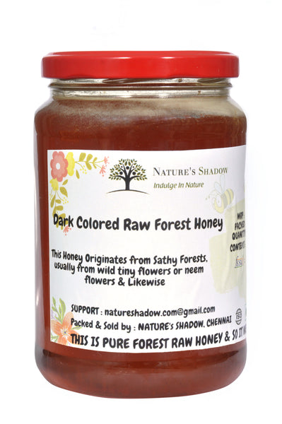 500 Grams - Dark Coloured Raw Forest Honey - Thalamalai Origin