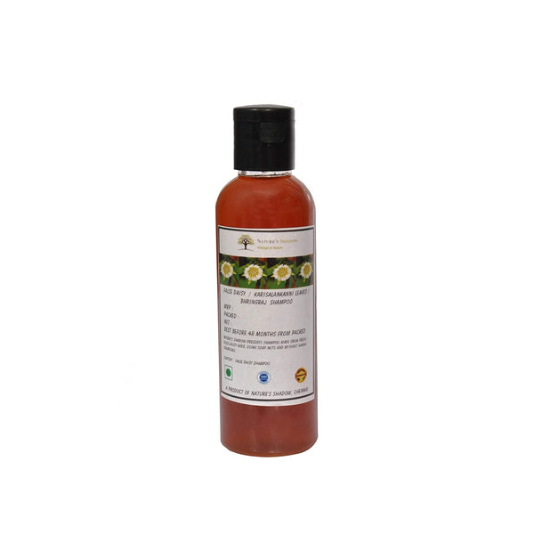 Nature's Shadow - Shampoos Made With Soap Nuts and Herbs (False Daisy / Karisalanakanni / Bringhraj Shampoo, 100 ML)