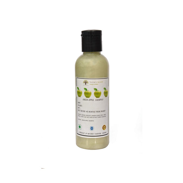 Nature's Shadow - Shampoos Made With Soap Nuts and Herbs (Green Apple Shampoo, 100 ML)