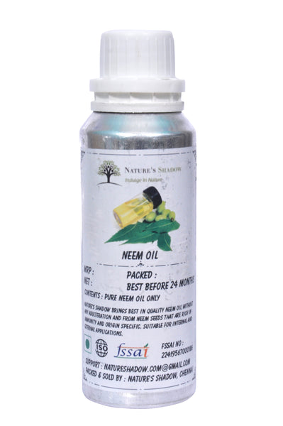 Edible Grade Neem Oil - 100 ML ( For Cure From Dandruff and Lice )