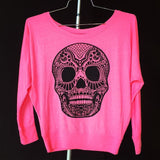 Skull Off Shoulder Long Sleeve