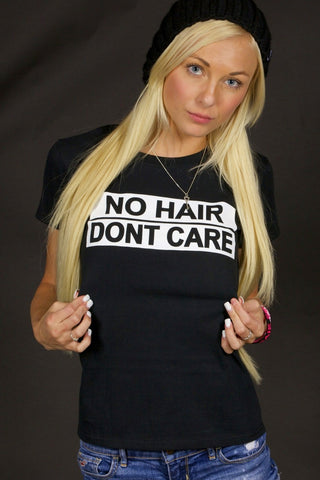 No Hair Dont Care Womens T-shirt