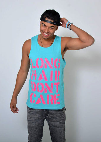 Neon Blue/Hot Pink Billboard Tank