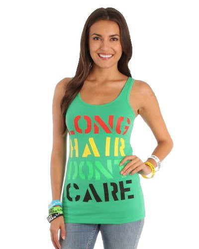 Green Multi Color Billboard Tank Top Womens