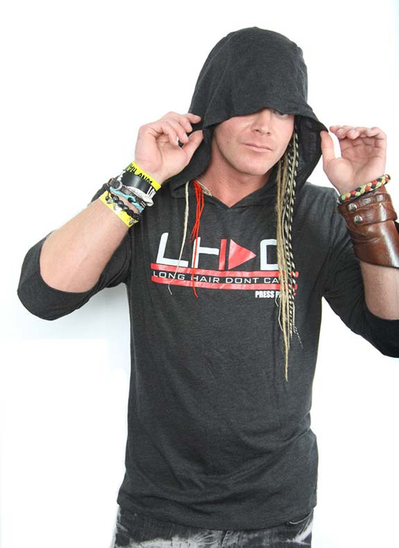 LHDC press play grey mens hoody