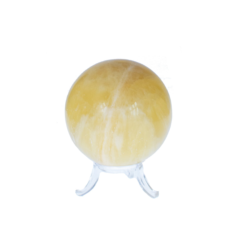 lemon calcit, calcit krystal, calcit, calcite, krystal, krystaller, krystalkugle, krystal kugle holder, holder til krystal, messingholder, gul krystal, rie una, crystal and, moons, køb krystaller, krystaller online, krystal webshop, krystaller instagram, flotte krystaller