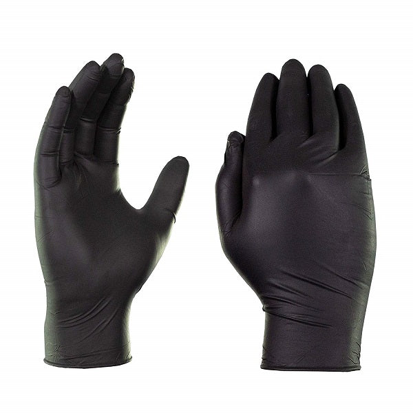 Ascari Professional Nitrile Ultra Soft Powder Free Black Gloves Small