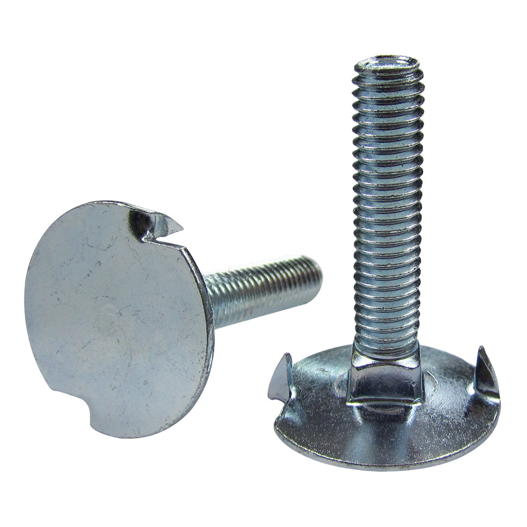 Steel Elevator Bolts with Finished Hex Nuts - Fanged