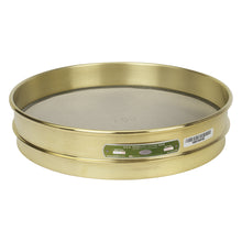 "Load image into Gallery viewer, U.S. Testing Sieves 12"" Half Height Brass Frame"