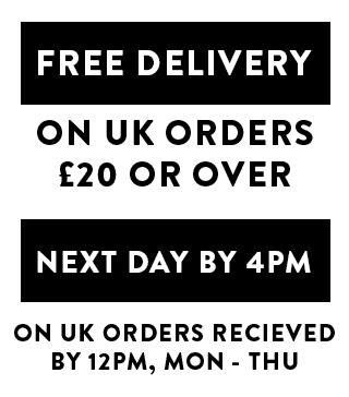 FREE DELIVERY ON UK ORDERS £20 AND OVER
