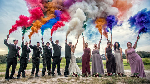 best smoke bombs for photography stain clothes wedding dress