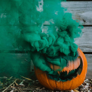 Green Halloween smoke ball
