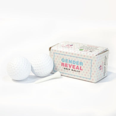 Gender Reveal Golf Balls Pink Girl Blue Boy