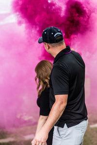 Pink Colored Smoke Bomb [90 Sec] Pull Ring Smoke Grenade