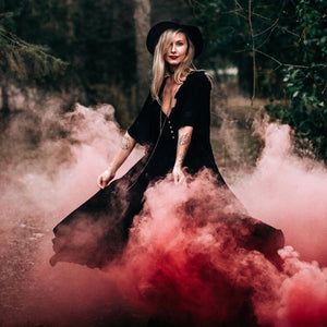 Red smoke bombs photography