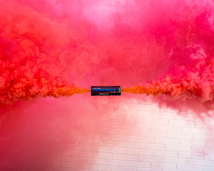 Pink discreet gender reveal smoke bombs baby girl