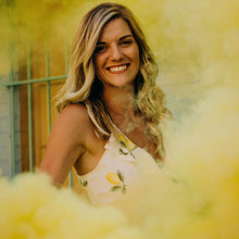 Load image into Gallery viewer, Yellow smoke bombs photography