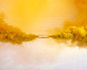 Orange Dual Vent Colored Smoke Bombs Wedding Smoke Photography