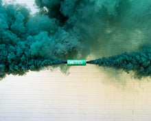 Load image into Gallery viewer, Teal Dual Vent Colored Smoke Bombs Wedding Smoke Photography