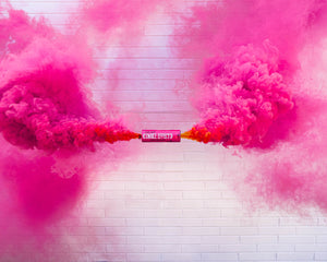 Pink Dual Vent Colored Smoke Bombs Airsoft Smoke Bomb Paintball Grenade