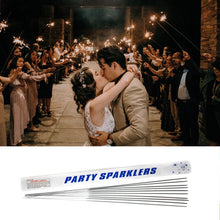 Load image into Gallery viewer, Gold Wedding Sparklers engagement event photography