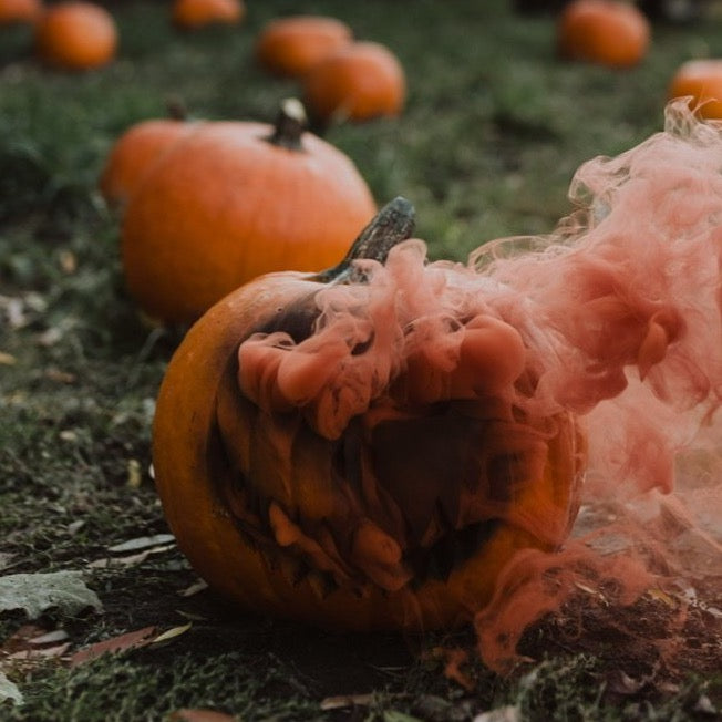 Orange Halloween smoke balls