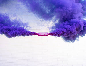 Purple Dual Vent Colored Smoke Bombs Wedding Smoke Photography