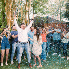 Load image into Gallery viewer, Gender reveal confetti cannon surprise baby reveal
