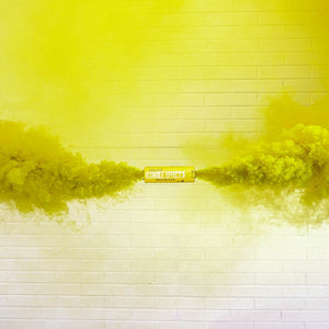 Yellow burst enola Gaye smoke bomb dual vent action