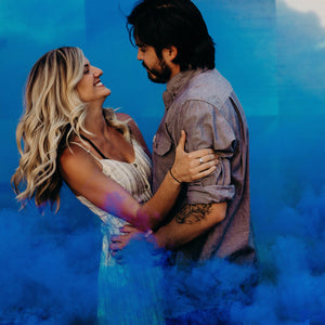 gender reveal smoke grenade blue smoke bomb boy