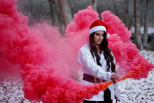 Load image into Gallery viewer, Red Dual Vent Smoke Bomb [Rapid Release < 30 sec]
