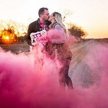Load image into Gallery viewer, pink smoke bomb gender reveal
