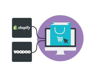 Download the Voodoo 3D print on demand app for your Shopify store