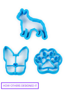 custom print on demand dog theme cookie cutter bundle