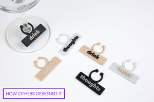 custom slogan print on demand wine glass tag id's for Shopify stores