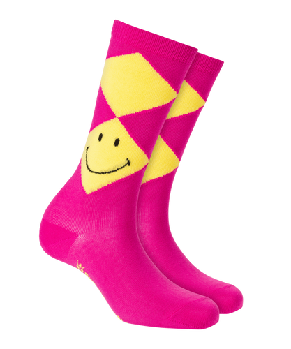 Burlington Smiley Argyle Herren Socken